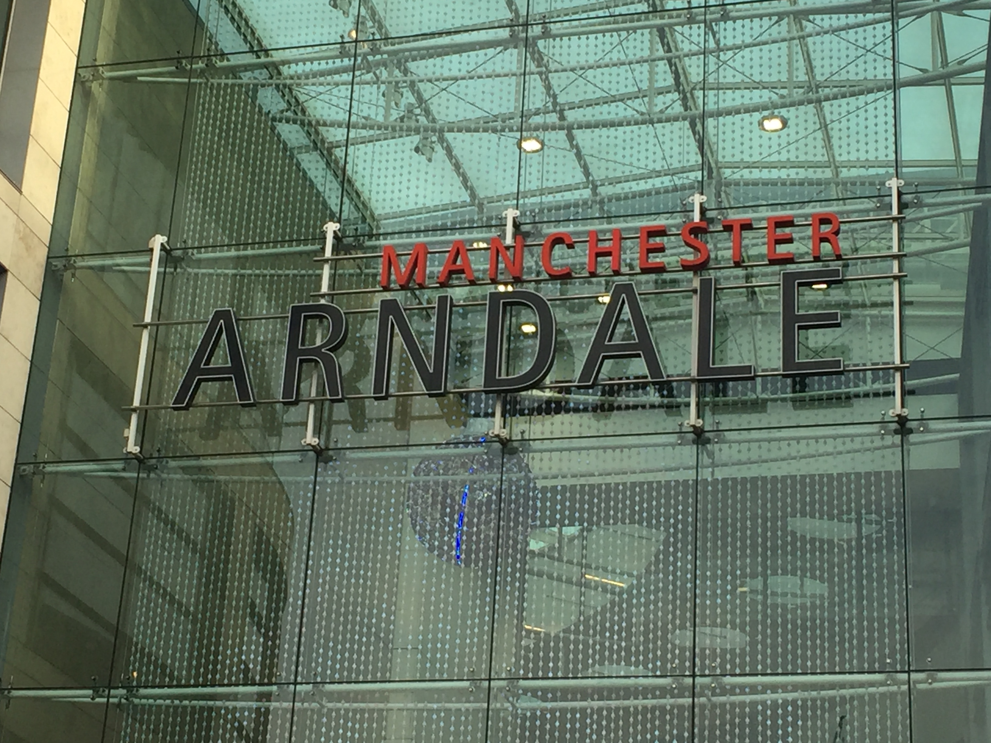 An image of the Manchester Arndale sign.