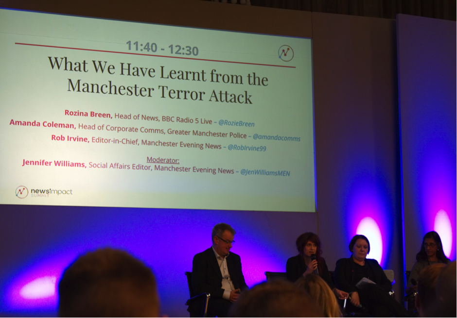 News Impact Summit debate about Manchester Arena attack