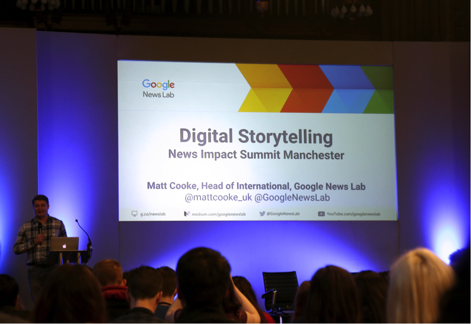 Matt Cooke, Google News Labs