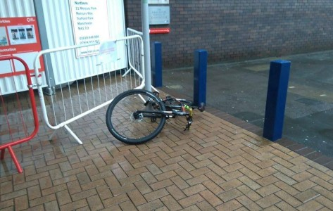 bikes chained up