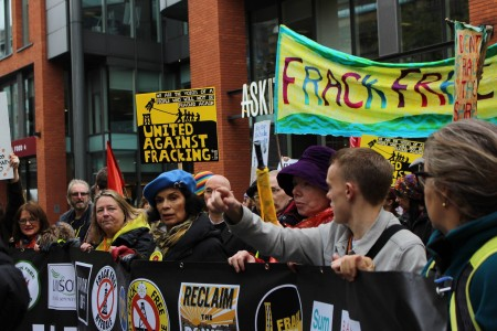 Bianca Jagger leading the line against fracking