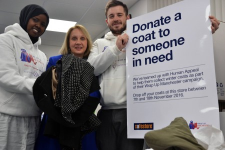 ​​​​​​Jane Brophy donates clothing with Human Appeal Campaigners.