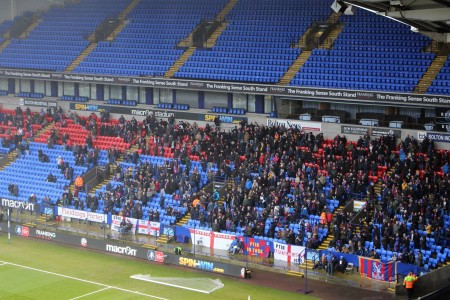 Palace travelling away fans