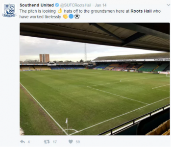 Southend groundsman sacked