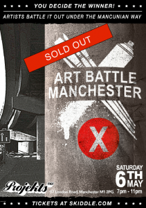 Art Battle Manchester poster