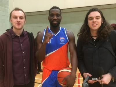 masterclass with MMU Basketball player