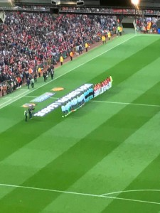 Manchester United and Celta Vigo line up