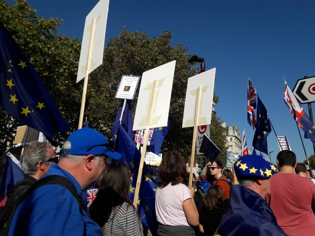 Marching under a blue sky