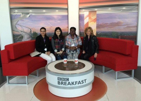 Four friends on the BBC Breakfast couch