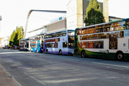 buses along Manchester's Oxford Road