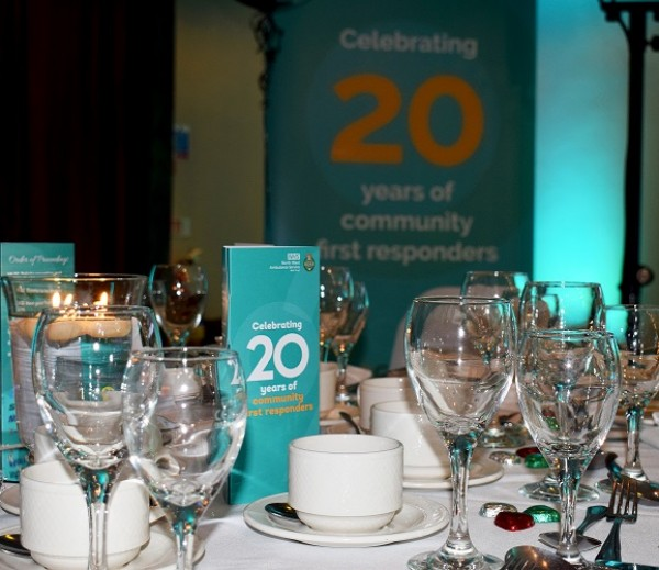 Ambulance services, Community first responders, 20 years service