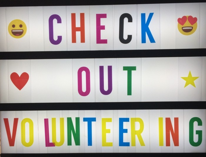 check out volunteering