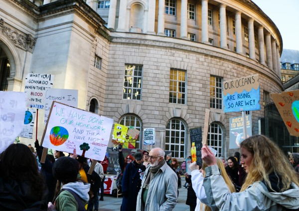 climate protesters, strike, manchester strike, climate protest, global climate strike