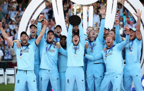 England lift the Cricket World Cup, courtesy of ICC