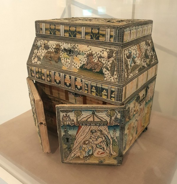 The 17th Century casket was made by  11 year old Hannah Smith
