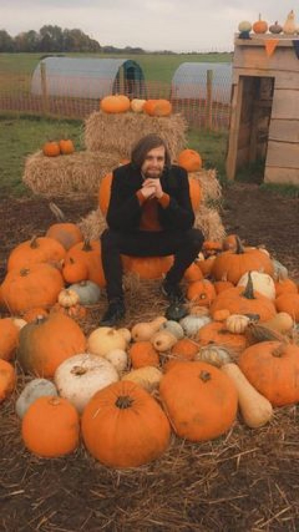 Finley at the pumpkin patch