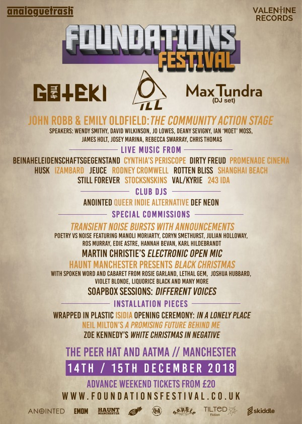 Foundations Festival lineup poster