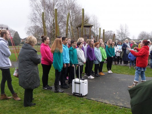 Stagecoach Didsbury choir performing