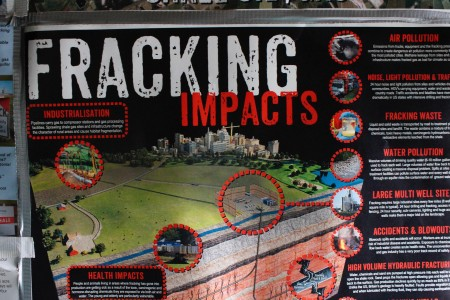 Poster explaining fracking