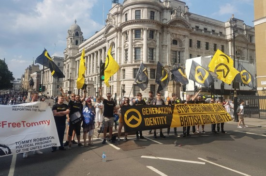Generation Identity attending the Free Tommy Robinson march