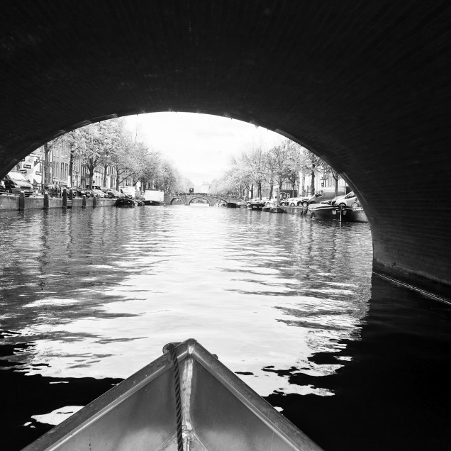Boat on the Amsterdam canal