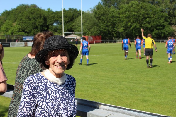 Jone, rugby spectator at lockdown rugby league
