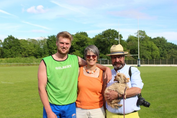 mmu parents with son at rugby