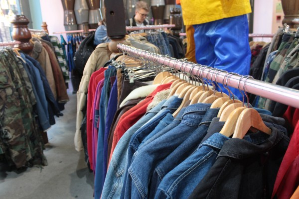 various different vintage clothes