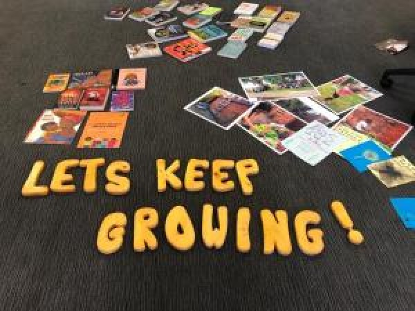 The bookshelf was curated by Let's Keep Growing. Image: Longsight Library.