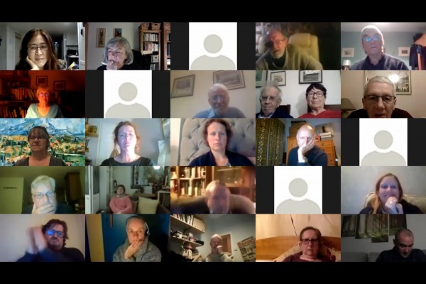 Attendees met over zoom due to Covid restrictions but this allowed for a more varied audience.