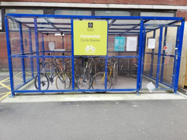 Secured Cycle Shelter on campus