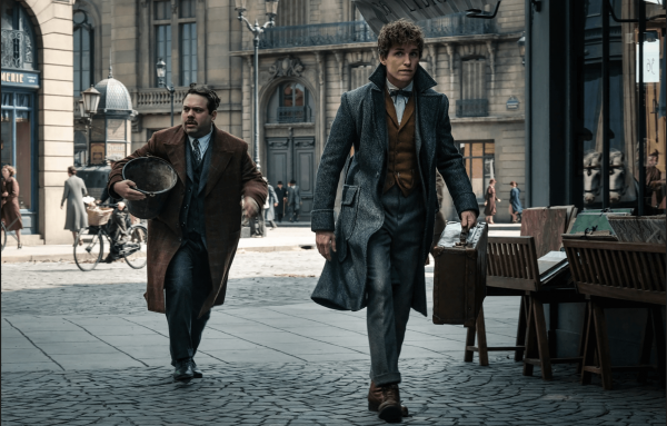 Newt Scamander and Jacob in Paris. Photo Credit: Warner Bros