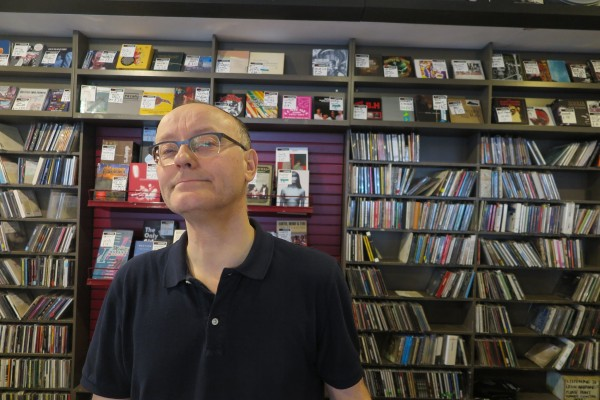 Rae Donaldson manager at Vinyl Exchange