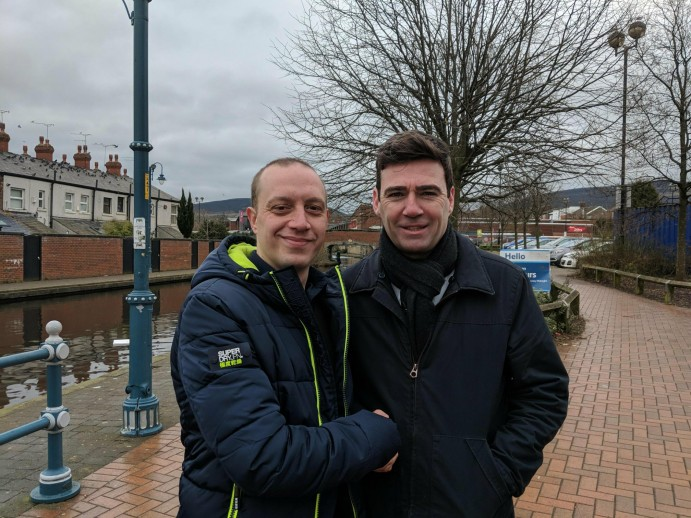 Sam Gosling, Labour, Labour Candidate, elections, Local elections, Stalybridge, Stalybridge North, Tameside, Andy Burnham
