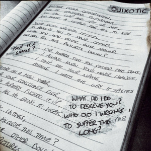Lyric sheet Palava posted on their Instagram @palavauk
