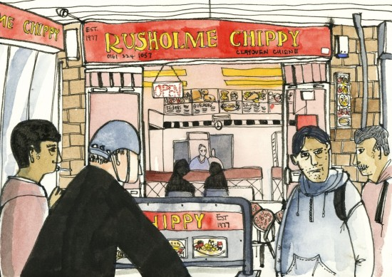 Rusholme Chippy by Len Grant