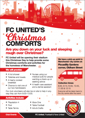 FC United homeless Charity day