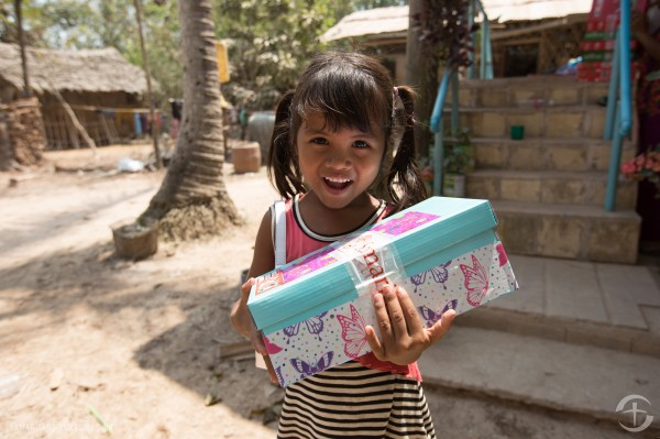 Shoebox distribution in Cambodia, courtesy of Samaritan's Purse