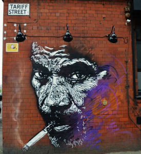 2Pac grafitti in Manchester's The Northern Quarter