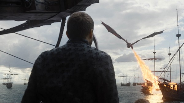 Euron watches his fleet get destroyed