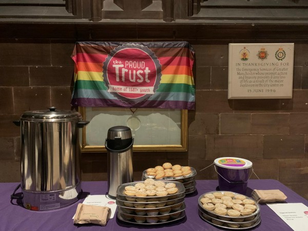 The Proud Trust set up free refreshments for guests