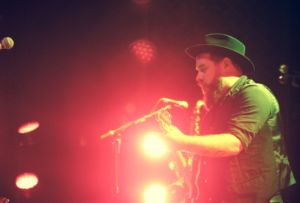 Nathaniel Rateliff performing with the Night Sweats