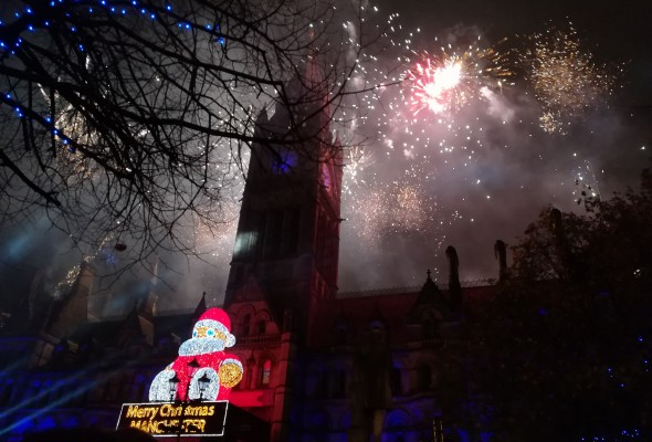 Manchester Christmas Lights Switch on show