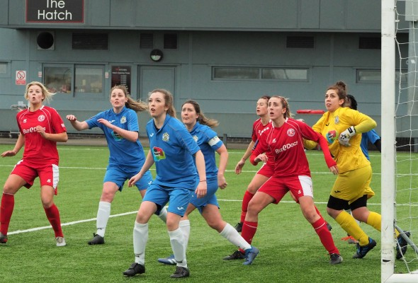 Stockport County Ladies vs Barnsley Women. Photo: Peter Attfield