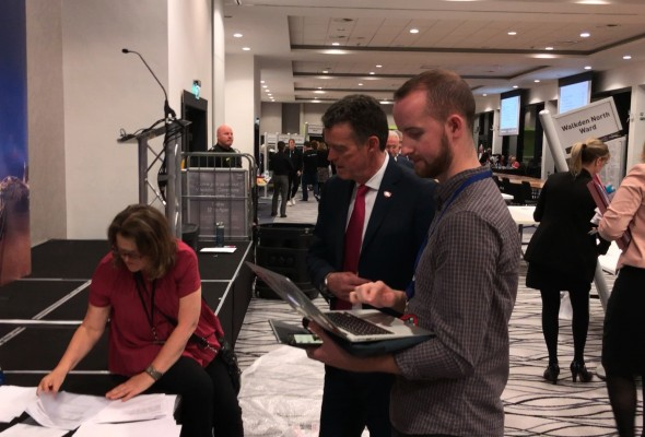 Northern Quota reporter Isaac Jordan covering Salford Council election, May 2019