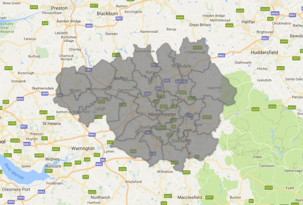 Map of Greater Manchester constituencies