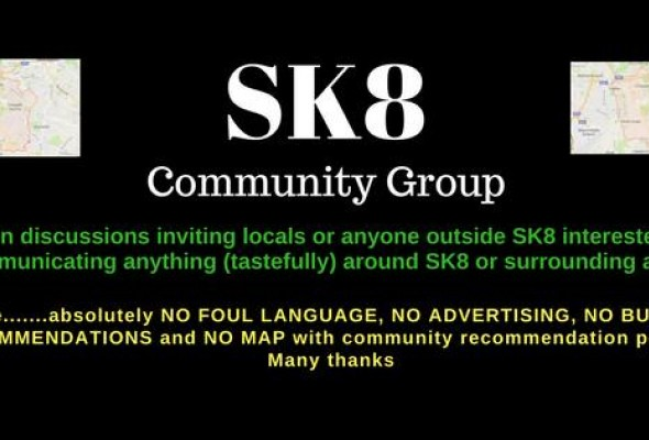 The SK8 Facebook group header