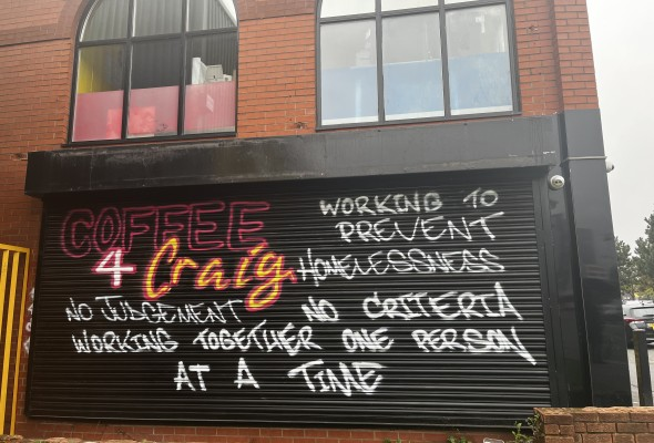Homeless Shelter 'Coffee4Craig', Great Ducie Street