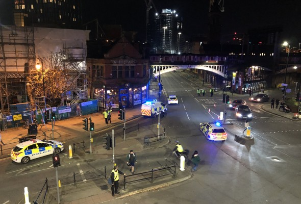 Police Cordon after terrorism arrests