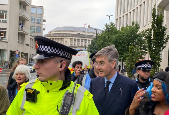 Jacob Rees-Mogg in Manchester for Conservative conference